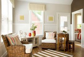 half wall beadboard living room beach style with venetian blinds black  hutches