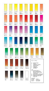 Watercolor Chart Winsor Newton Winsor Newton Professional Watercolor Chart Pdf Www
