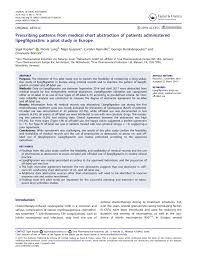 Pdf Prescribing Patterns From Medical Chart Abstraction Of