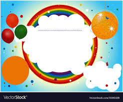 Party Invitation Background Image Kids Party Invite Background Royalty Free Vector Image