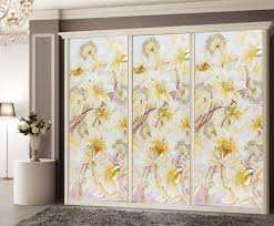 Decorations Beautiful Decorative Window Clings Yellow Flowers - Decorative glass windows for bathrooms