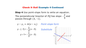 point slope form substitute check it out example 4 continued