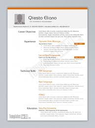 Free One Page Resume Template Awesome One Page Cv On Free Resume Templates For Word Resume Templates Pages