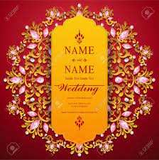 Wedding Invitation Card Templates With Gold Patterned And Crystals On Background Color Royalty Free Cliparts Vectors And Stock Illustration Image 89113152