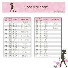 Shoe Width Chart 4e Kids Shoe Size Chart Shoe Size Chart Kids Baby Shoe