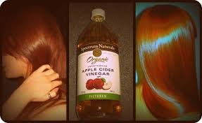 apple cider vinegar for shiny red hair