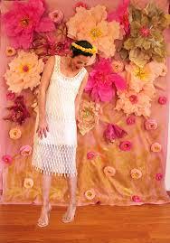 Hanging Paper Flower Backdrop Paper Flower Diy Backdrop