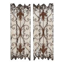 antique wood metal wall panel set rustic country decor
