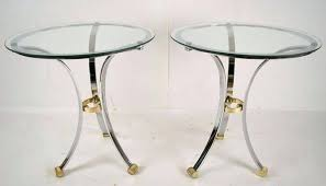 round chrome table vintage round chrome brass side tables by chrome table legs uk