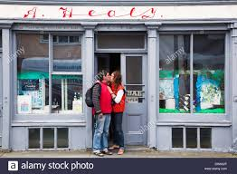 Hair Design Ennistymon A Couple Kissing In The Doorway Of A Shop Ennistymon County