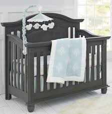 Oxford Baby London Lane 4-in-1 Convertible Crib - Arctic Grey