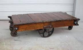 factory cart coffee table diy uk restoration hardware