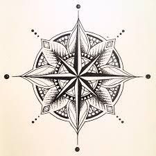 эскиз татуировки компас 42830 тату салон дом элит тату