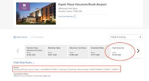you may be best served by checking with the various airport hotels directly but you can also use a site such as park fly sleep to not only find some park