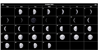 Moon Chart October 2018 Moon Calendar October 2018 Moon Calendar New Moon
