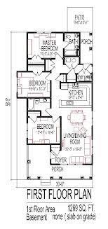 3 bedroom house floor plans design slab