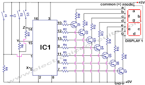 logic diagram 7 segment display the wiring diagram 4033 7 segment common anode display counter electronic circuits wiring diagram