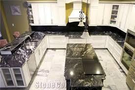 black titanium granite bullnose kitchen countertops and island top