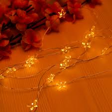 Copper Star Fairy Lights 2m 20 Leds Copper Wire Star String Lights Led Starry Fairy