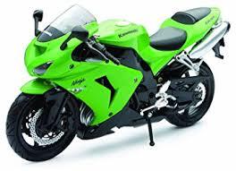 green kawasaki zx 10r 1 12 scale die cast motorbike model by