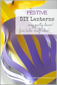 festive foam lantern kids craft idea and party decor summerofjoann