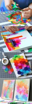 Bleeding Tissue Paper Art -