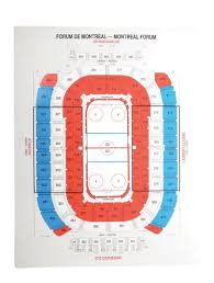 Cbp Seating Chart Lot Detail Seating Chart From The Montreal Forum 33 X 43