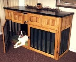 dog crates furniture style. custom cabinet with 2 dog crates furniture style