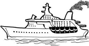 Cruiseschip Op De Zee Kleurplaat Gratis Kleurplaten Printen