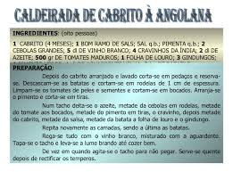 Resultado de imagem para IMAGENS DE RECEITAS DE COMIDAS DE ANGOLA