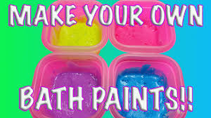 diy how to make homemade bath paints for kids rinses away instantly