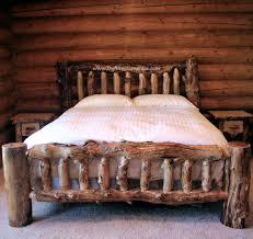 Rustic Cabin Bedroom Decorating Bedroom Decor Light Wood Log Bedroom Furniture With Table Cabinet