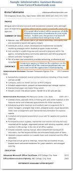 Administrative Assistant Resume Sample Resume Pinterest