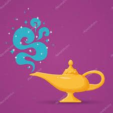 Magic Aladdin Lamp Vector Illustration Stock Vector Mssa 124835950