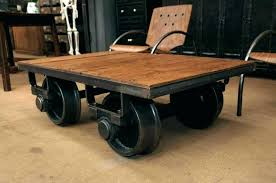 coffee table with wheels furniture on fresh vintage industrial black whee