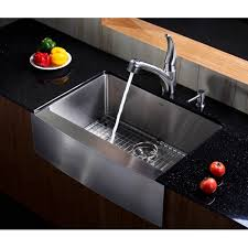 stainless steel sink racks ampquot whitehaven: kraus khf   inch farmhouse apron single bowl  gauge