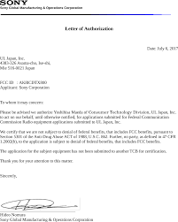 Icdtx800 Ic Recorder Cover Letter Letter Of Agency Sony Corporation
