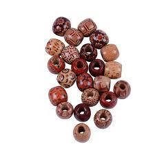 50pcs dreadlock bead wooden hair beads braiding big hole dreadlock bead ring s for braiding hair extension accessories