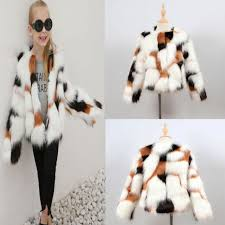 kids baby girls autumn winter faux fur coat jacket thick warm outwear clothes