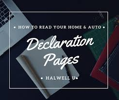 The information that makes up the declaration page forms an outline of your entire car insurance policy. How To Read Your Dec Pages Halwell Mutual