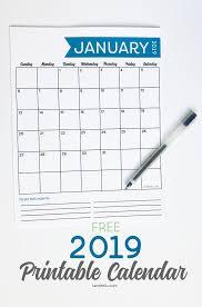 free printable 2019 monthly calendar free 2019 printable calendar landeelu com