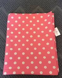 cath kidston bright pink polka dot tablecloth table cover bnwt 140cm x 180cm