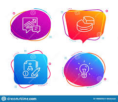 Graph Chart For Science Project Pie Chart Accounting And Algorithm Icons Set Idea Sign 3d
