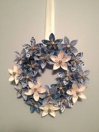 Christmas Paper Flower Wreath Origami Paper Flower Wreath Wedding Decorations Origami Wreath