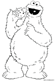 Cookie Monster Coloring Page Christianvisionpnginfo