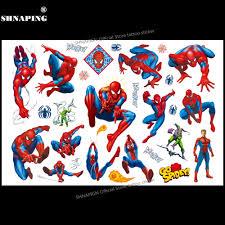 Shnapign симпатичные человек паук дети мультфильм временные