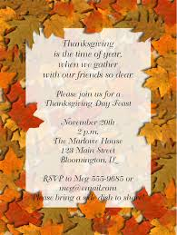 Fall Party Thanksgiving Invitation Festival Collections