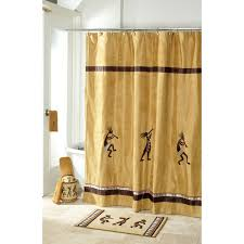 Paris Themed Bedroom Curtains Kokopelli Gold Shower Curtain And Rug Avanti Home Southwestern