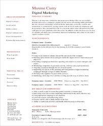 Marketing Skills Resume Cool 28 Sample Marketing Skills Resumes Sample Templates
