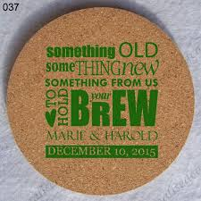 Custom cork coasters Laser Engraved Personalized Round Cork Coasters Custom Wedding Cup Coaster 037 Totally Promotional Personalized Round Cork Coasters Custom Wedding Cup Coaster